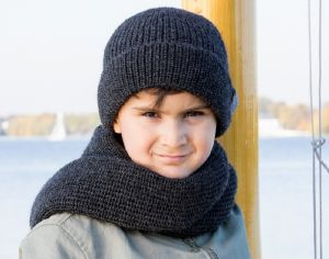 PICKAPOOH Snood en Laine Bébé Enfant - Anthracite
