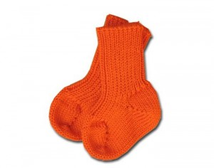 Chaussons - Chaussettes B�b� Orange