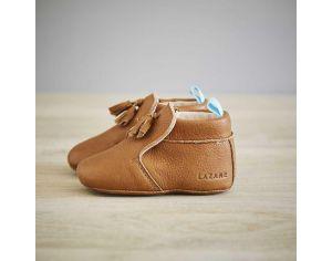 0814adbbfba37 Chaussons en cuir pour bébé   bébé au naturel