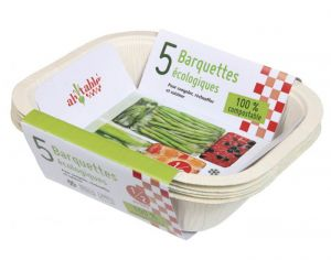 AH TABLE Lot de 5 Petites Barquettes Compostables