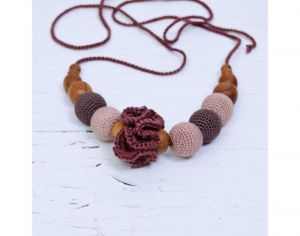 KANGAROO CARE Collier d'Allaitement et de Portage - Chocolate Brown and Beige