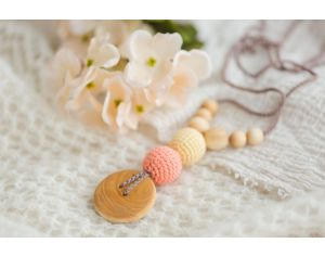 KANGAROO CARE Collier d'Allaitement et de Portage - Peach and Light Yellow