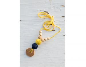 KANGAROO CARE Collier d'Allaitement et de Portage - Yellow and Navy