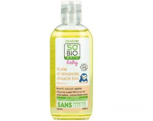SO'BIO Baby Huile d'Amande Douce Bio - 100 ml