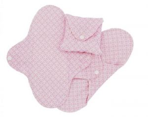 IMSEVIMSE Lot de 3 Serviettes Hygiéniques Lavables SLIM - Pink Halo