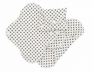 IMSEVIMSE Lot de 3 Serviettes Hygiéniques Lavables SLIM - Black Dots