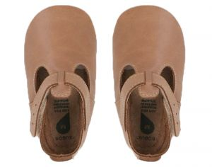 BOBUX Chaussons en Cuir - Jack & Jill Caramel Large (Taille 22)