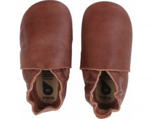 BOBUX Chaussons en Cuir - Classic Marron Large (Taille 22)