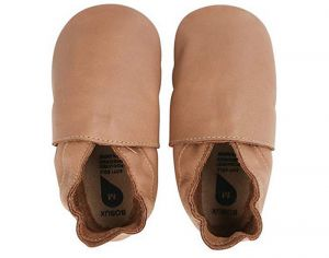 BOBUX Chaussons en Cuir - Classic Caramel Large (Taille 22)