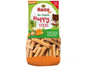 HOLLE Happy Sticks Carotte Fenouil - 100 g - Dès 3 ans