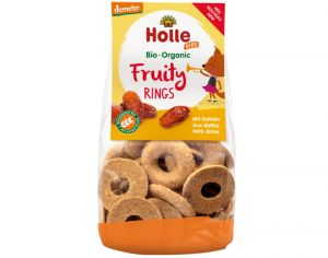 HOLLE Biscuits Fruity Rings Dattes - 125 g - Dès 3 ans