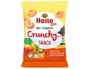 HOLLE Crunchy Snack Pomme Cannelle - 25 g - Dès 3 ans