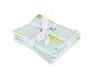 LITTLE CREVETTE Lot de 6 Lingettes Lavables Bébé