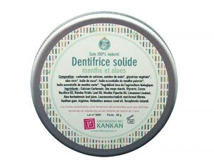 SAVONNERIE BIO KANKAN Dentifrice Solide - Menthe et Aloes - 50g