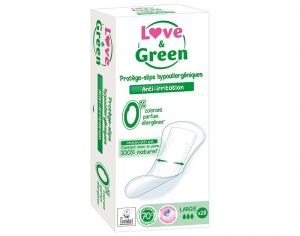 LOVE & GREEN Protège-Slip Large - Paquet de 28