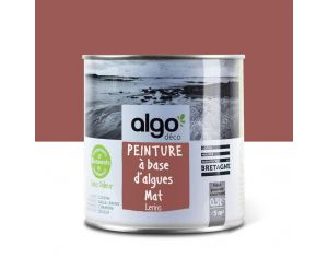ALGO PAINT Peinture Biosourcée Décorative Rouge Finition Satin (Lerins)