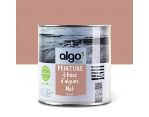 ALGO PAINT Peinture Biosourcée Décorative Rose Finition Satin (Bréhat)