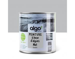 ALGO PAINT Peinture Biosourcée Décorative Grise Finition Satin (Cezembre)