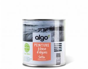 ALGO PAINT Peinture Biosourcée Décorative Orange Finition Satin (Kahouanne)