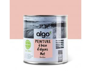ALGO PAINT Peinture Biosourcée Décorative Rose Finition Satin (Bora Bora)