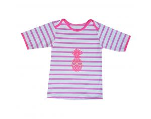 MAYOPARASOL Saint Trop T-Shirt Anti-UV Fille Manches Courtes - Rose Taille 10 ans