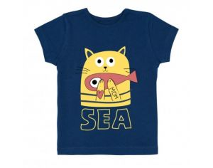 LA QUEUE DU CHAT T-Shirt Bébé Bleu Marine