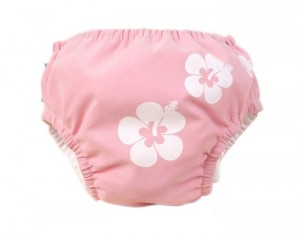 PIWAPEE Maillot Couche Vahiné Rose Pastel