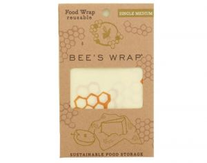 BEE'S WRAP Emballage Alimentaire Cire d'Abeille - Médium - 25 x 27,5 cm
