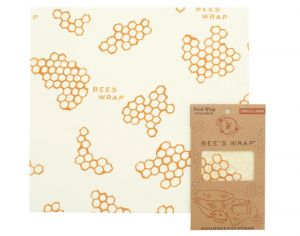 BEE'S WRAP Emballage Alimentaire Cire d'Abeille - Large - 33 x 35 cm
