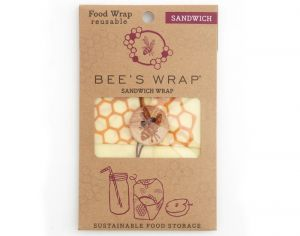 BEE'S WRAP Emballage Alimentaire Cire d'Abeille Sandwich - 33 x 33 cm