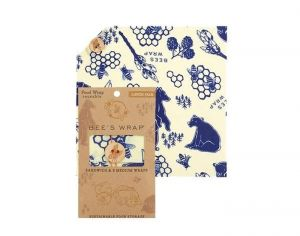 BEE'S WRAP Emballage Alimentaire Cire d'Abeille Lunch Pack