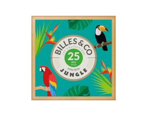 BILLES & CO Coffret de 25 billes Jungle - Dès 6 ans