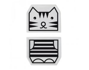 WEE GALLERY Duo d'assiette porcelaine Tigre
