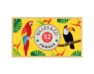 BILLES & CO Coffret de 52 billes Jungle - Dès 6 ans