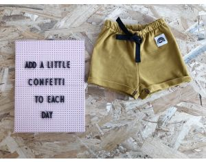 MOOMIE Short Bébé Moutarde