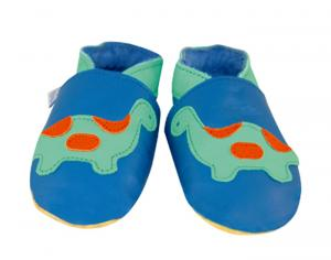 DAISYROOTS Chaussons en Cuir Dinosaure - Faits main en Angleterre
