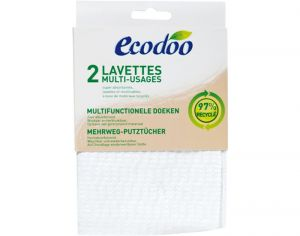 ECODOO Lot de 2 Lavettes Multi-Usages