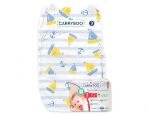 CARRYBOO Couches Ecologiques Dermo-sensitives T3 - 4 à 9Kg - 26 couches