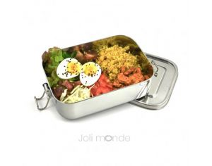 JOLI MONDE Lunch Box Inox Etanche La Rectangle - 20.5 x 14.5 x 14.5cm