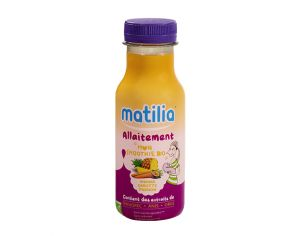 MATILIA Pack 12 Smoothies Allaitement BIO - Ananas Carotte Passion - 12x250ml