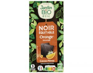 JARDIN BIO Chocolat Noir Orange Intense - 100g