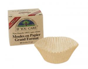 IF YOU CARE Moule de Cuisine en Papier - Non-blanchi - Sans chlore