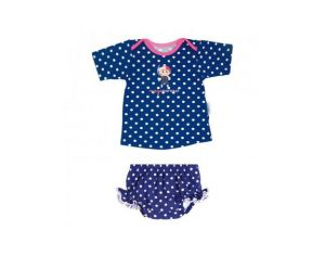 MAYOPARASOL Ensemble T-Shirt UV et Maillot Couche Piscine - Marina Beach