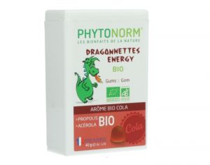PHYTONORM JUNIOR Gommes Dragonnettes Arôme Cola - 40 g