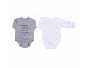 SEVIRA KIDS Body Manches Longues en Coton Bio (lot de 2), Twinkle