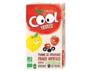 VITABIO Pack Eco Cool Fruits Pomme-Fraise-Myrtille 12x90g
