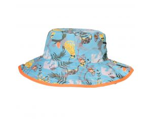 BANZ Mayo Parasol -  Chapeau Anti UV Réversible - Jungle  Ajustable 0-2 ans