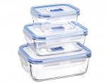 LUMINARC Pure Box - Contenants Alimentaires Rectangulaires en Verre - Set de 3