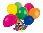 Lot de 100 Ballons de Baudruche en Latex Naturel