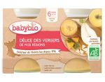 BABYBIO Mes Fruits - 2 x 130g (D�lices de fruit - 4 mois)